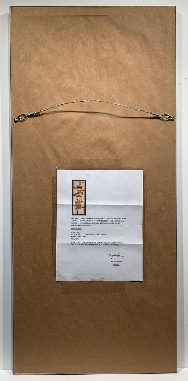 Untitled (Cuban Artist Geometric Collage Composition) For Sale 7