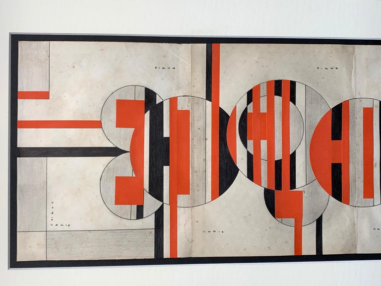 Untitled (Cuban Artist Geometric Collage Composition) - Gray Abstract Painting by Sandu Darie
