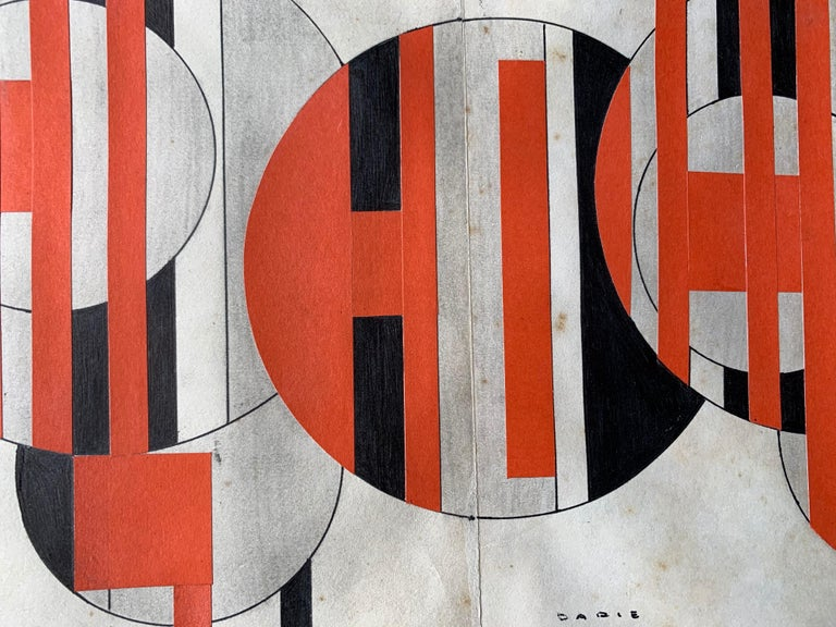 Untitled (Cuban Artist Geometric Collage Composition) For Sale 1