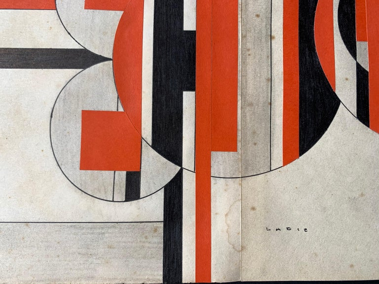Untitled (Cuban Artist Geometric Collage Composition) For Sale 2