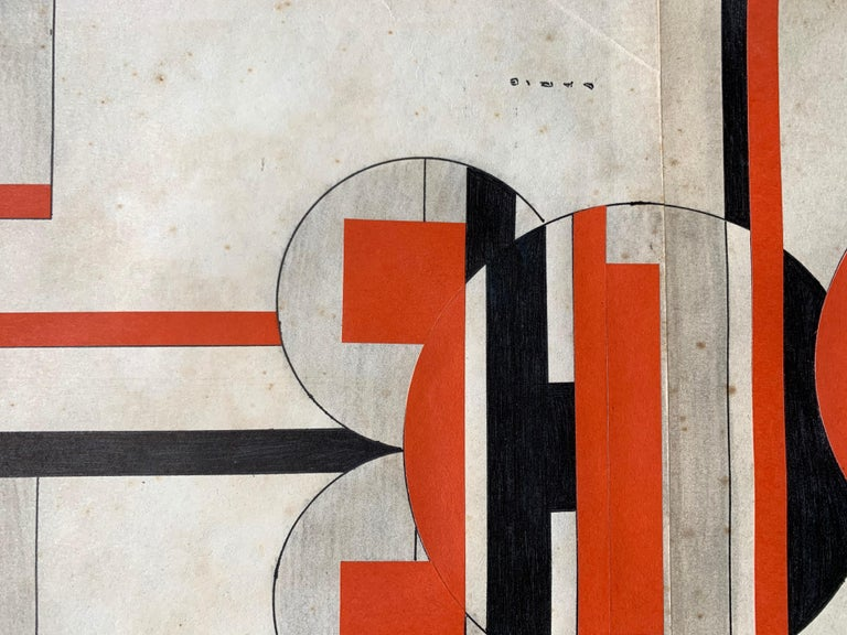 Untitled (Cuban Artist Geometric Collage Composition) For Sale 3