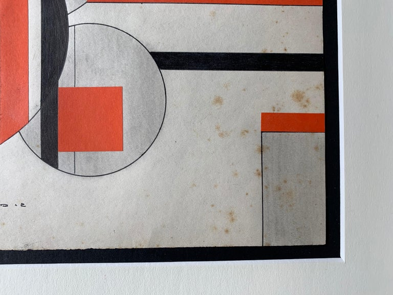 Untitled (Cuban Artist Geometric Collage Composition) For Sale 4