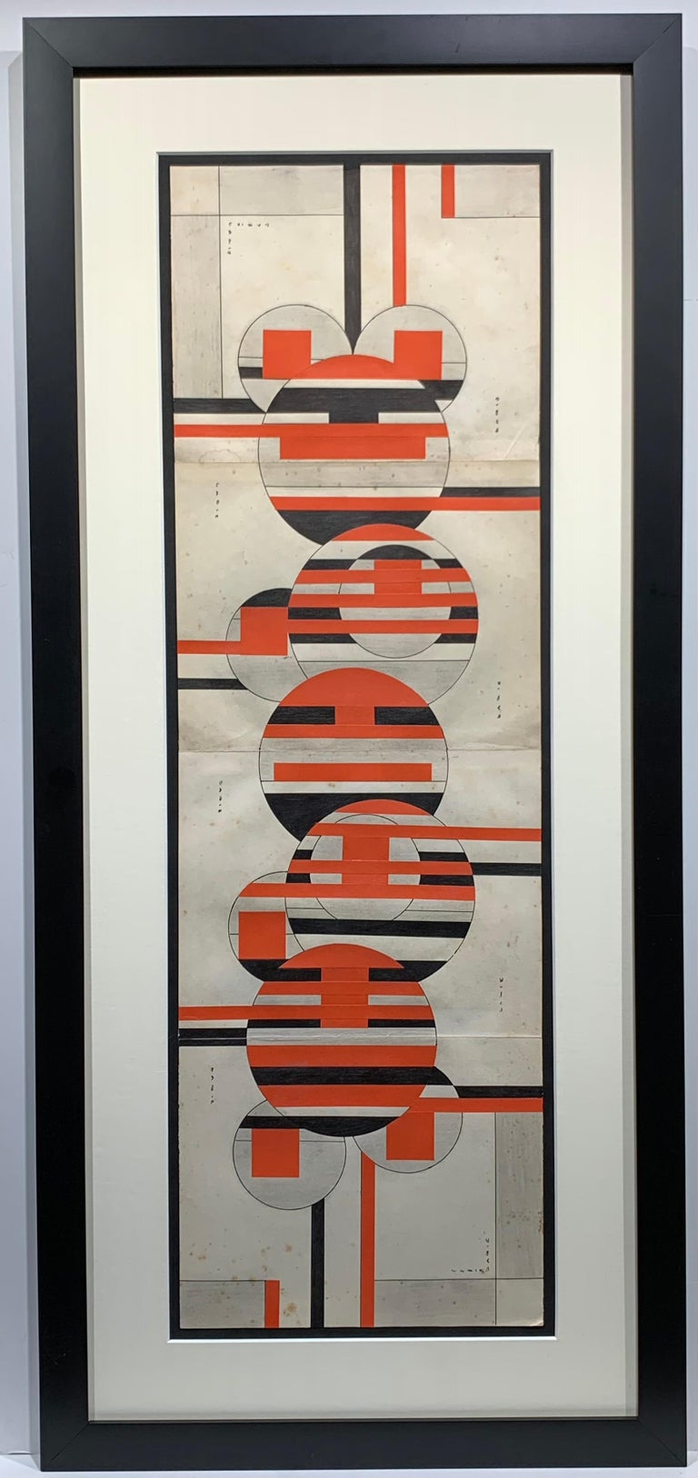 Sandu Darie Abstract Painting - Untitled (Cuban Artist Geometric Collage Composition)