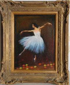 Ballerina, Oil Painting by Sandu Liberman