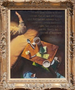 Declaration, Oil Painting by Sandu Liberman
