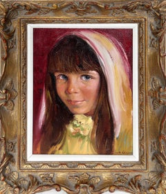 Portrait of a Girl, Oil Painting by Sandu Liberman