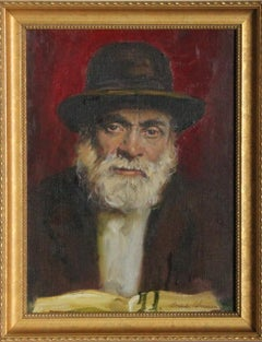 Portrait of an Old Man, Oil Painting by Sandu Liberman