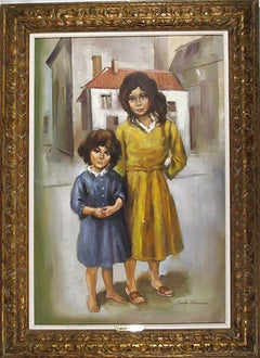 Sisters, Oil Painting by Sandu Liberman