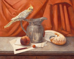 Still Life With Cockatiel and Nautilus