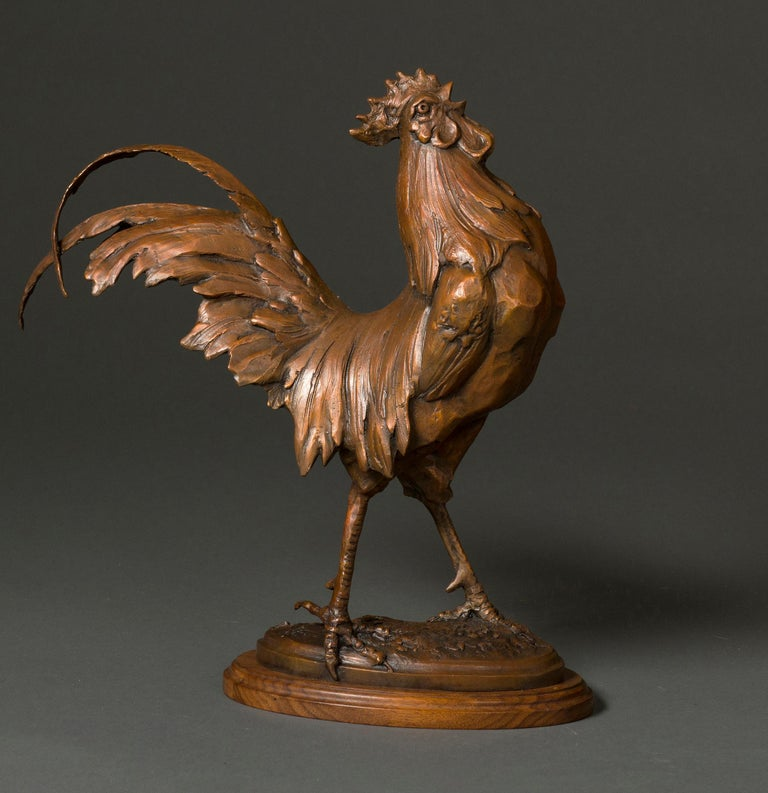 King of the Coop - Contemporary Sculpture by Sandy Scott