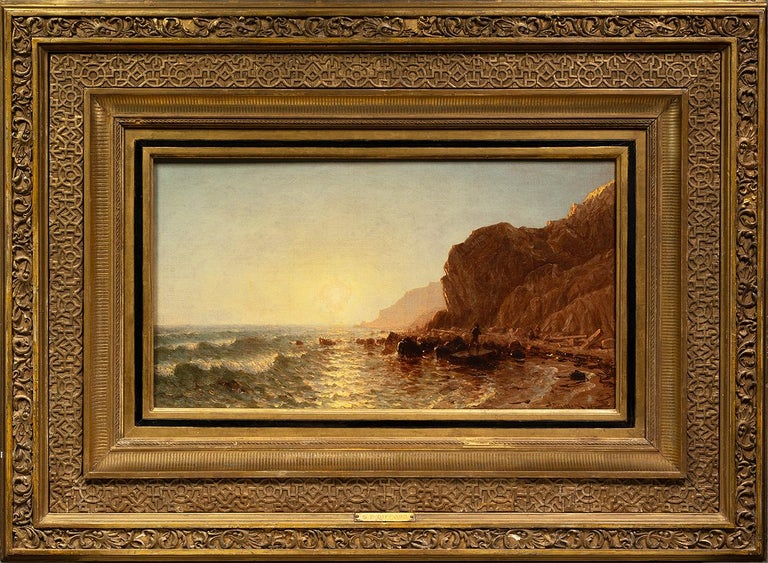 Study for 'Sunset on the Shore of No Man's Land–Bass Fishing' - Painting by Sanford Robinson Gifford