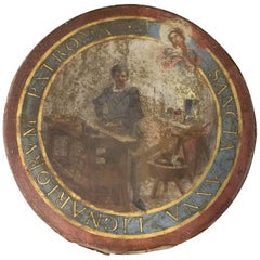 Santa Anna Painting Patron Saint of Cabinetmakers, Sailors, French, 19th Century