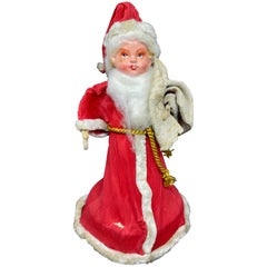 Santa Claus Belsnickle Candy Container Vintage Christmas, 1940s