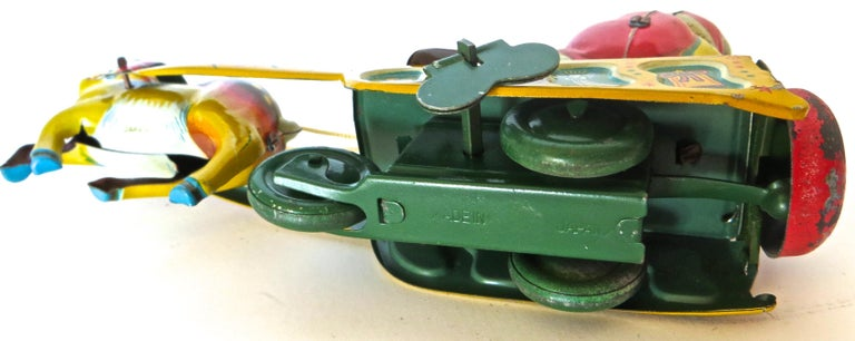 Mid-20th Century Santa Claus in a Sleigh Wind Up Toy Japan, circa 1953 For Sale