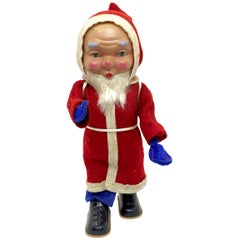 Santa Claus Wind Up Toy Figure Vintage German Christmas, 1960s