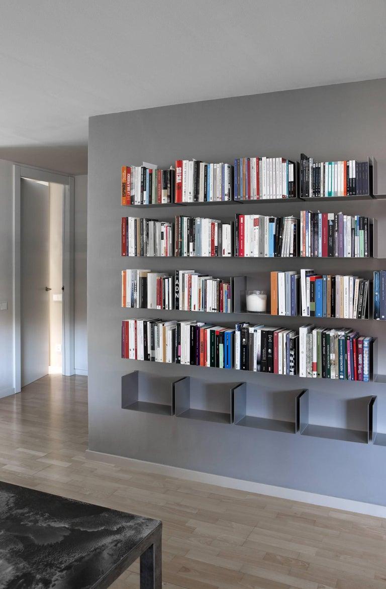 """NOA Menor Shelves gray metal, pair measure: 13.7""""x 7.8""""."""