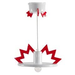 Santa Fe Porcelain Ceiling Lamp EU 220 Volts, by Matteo Thun from Memphis Milano