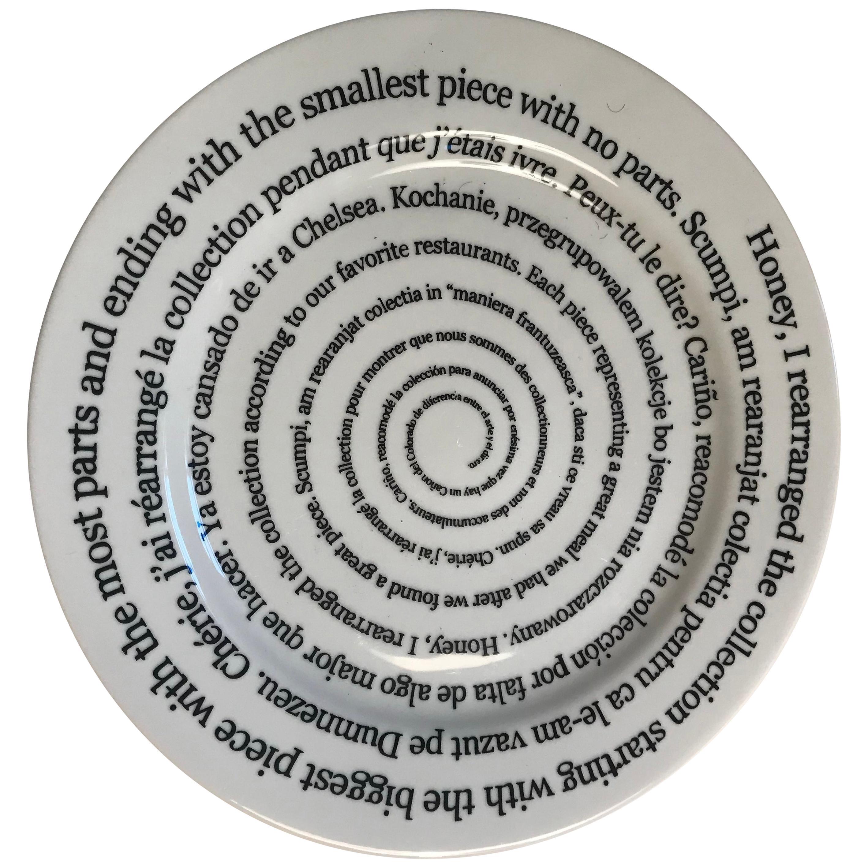 Santa Monica Museum of Art 20th Anniversary Allen Ruppersberg Plate