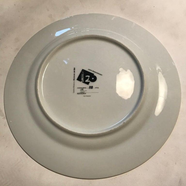 Ceramic Santa Monica Museum of Art 20th Anniversary Mark Bradford Plate For Sale