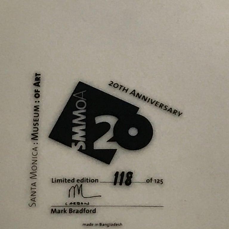 Santa Monica Museum of Art 20th Anniversary Mark Bradford Plate For Sale 1