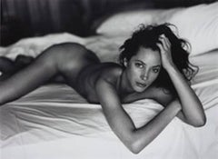 Christy Turlington on Bed - nude portrait of the supermodel
