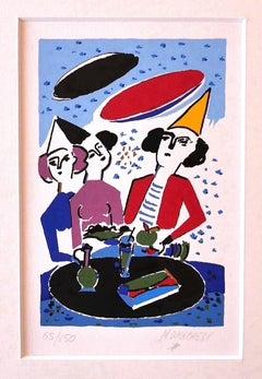 The Clown - Original Screen Print by Sante Monachesi - 1975