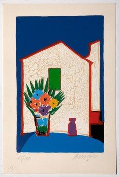 The House - Original Screen Print by Sante Monachesi - 1980
