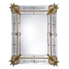 Santi Rectangular Murano Glass Mirror