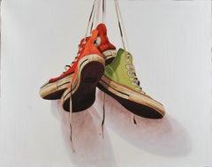 """Santiago García, """"#1377"""", Realistic, Contemporary, Converse shoes, Oil Painting"""