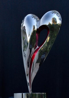 """Cupid"" Heart-Shaped Stainless Steel Sculpture"