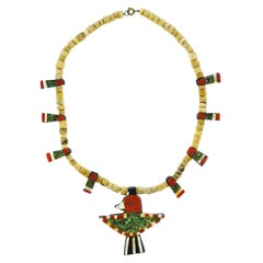 Santo Domingo Pueblo Necklace, circa 1920s
