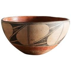 Santo Domingo Pueblo Polychrome Dough Bowl, 1900s