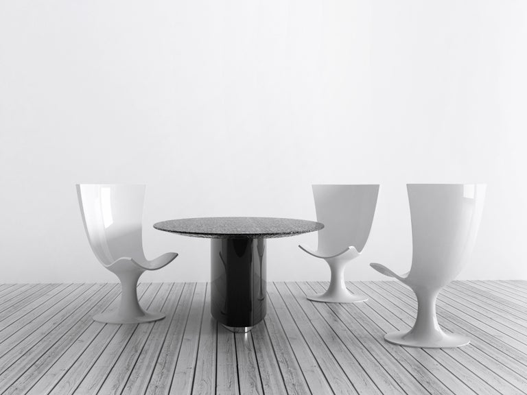 Other Imposing White Seat, Decorative and Sculptural Santos Chair by Joel Escalona For Sale