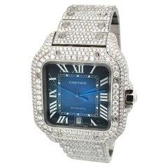 Santos De Cartier Watch with 24 Carats of Diamonds