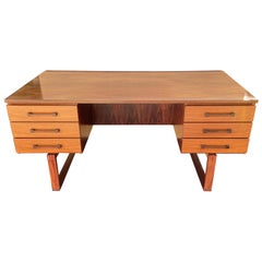 Santos Rosewood Desk by Thorben Valeur and Henning Jensen