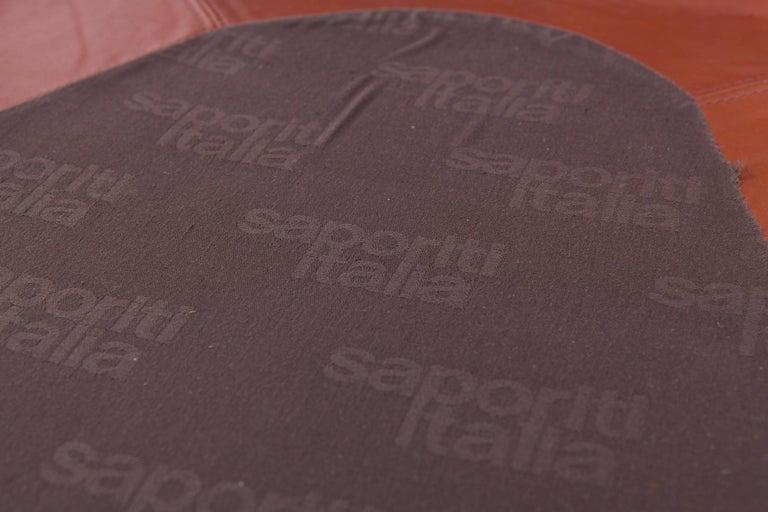 Saporiti 'Confidential' Cognac Leather Sofa by Alberto Rosselli For Sale 6