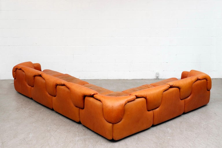 Saporiti 'Confidential' Leather Sectional Sofa by Alberto Rosselli In Good Condition For Sale In Los Angeles, CA