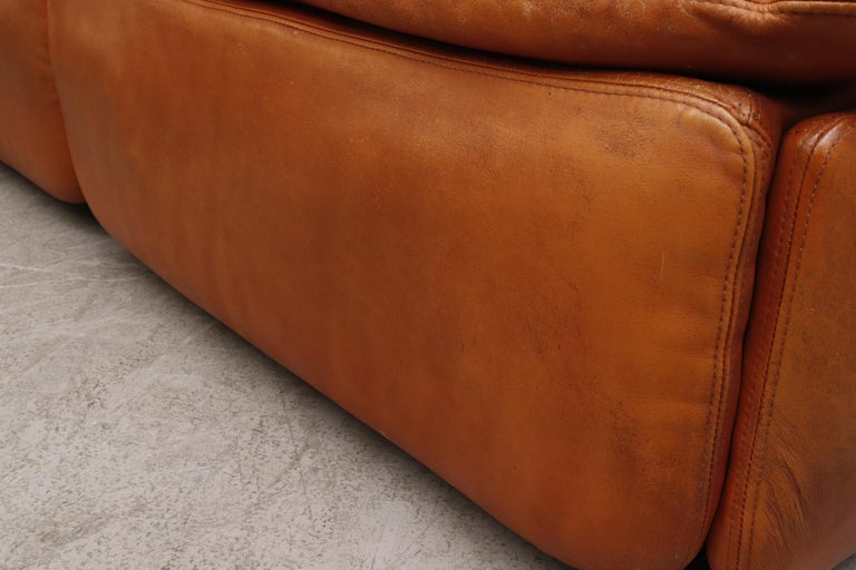 Saporiti 'Confidential' Leather Sectional Sofa by Alberto Rosselli For Sale 3