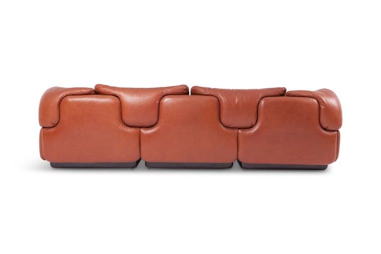"""Saporiti """"Confidential"""" Leather Sofa by Alberto Rosselli For Sale 7"""