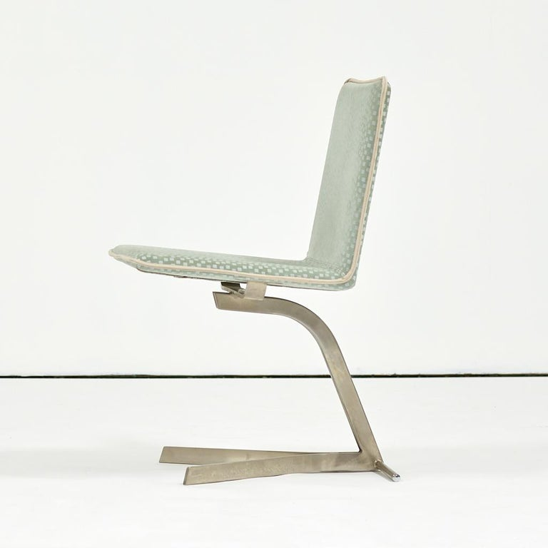 Italian Saporiti Dining Chairs, Set of Eight, circa 1970s For Sale
