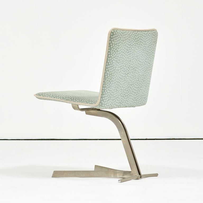 Brushed Saporiti Dining Chairs, Set of Eight, circa 1970s For Sale