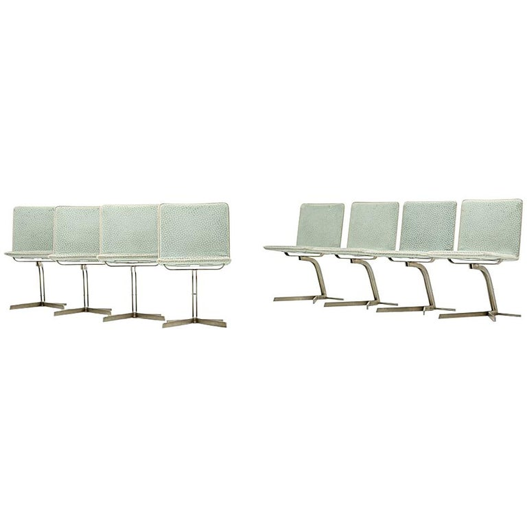 Saporiti Dining Chairs, Set of Eight, circa 1970s For Sale