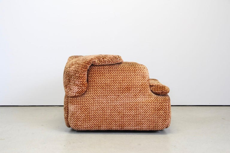 Saporiti Italia Confidential Sofa and Armchair Living Room Set, 1970s For Sale 3