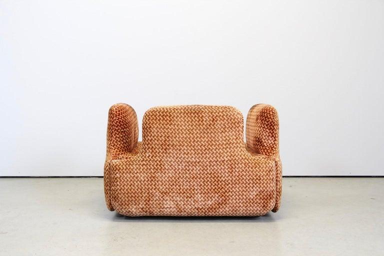 Saporiti Italia Confidential Sofa and Armchair Living Room Set, 1970s For Sale 6
