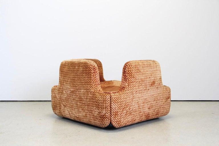 Saporiti Italia Confidential Sofa and Armchair Living Room Set, 1970s For Sale 7