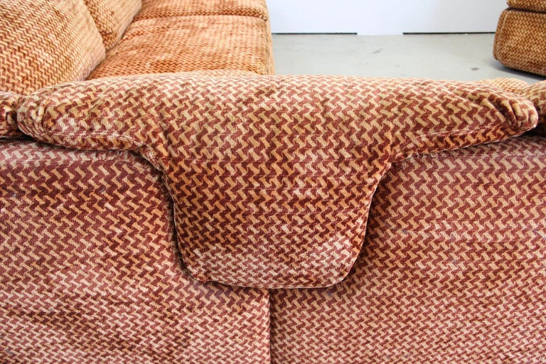 Saporiti Italia Confidential Sofa and Armchair Living Room Set, 1970s For Sale 10