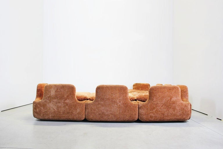 Saporiti Italia Confidential Sofa and Armchair Living Room Set, 1970s In Good Condition For Sale In Munich, Bavaria