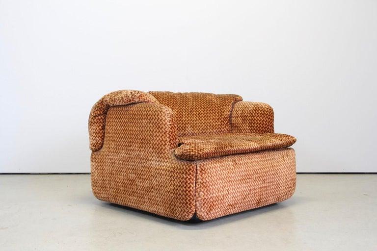 Saporiti Italia Confidential Sofa and Armchair Living Room Set, 1970s For Sale 2