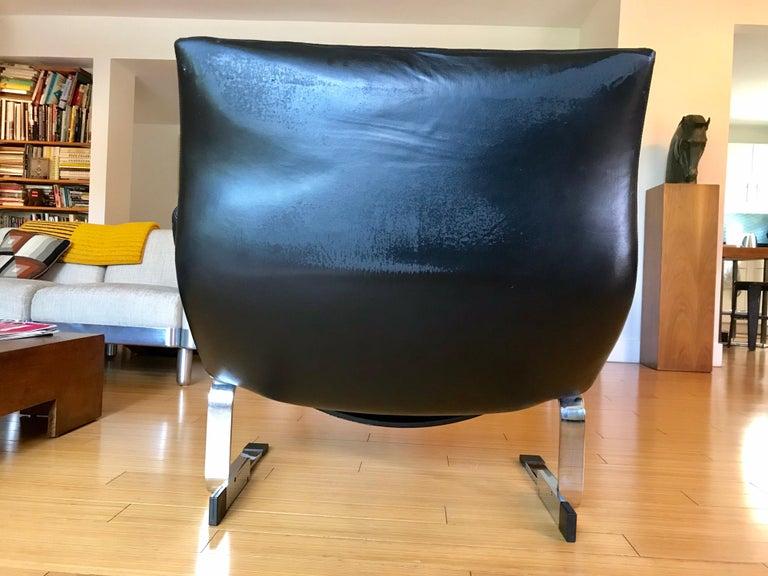 Saporiti Italia Leather Lounge Chair, 1970s For Sale 5