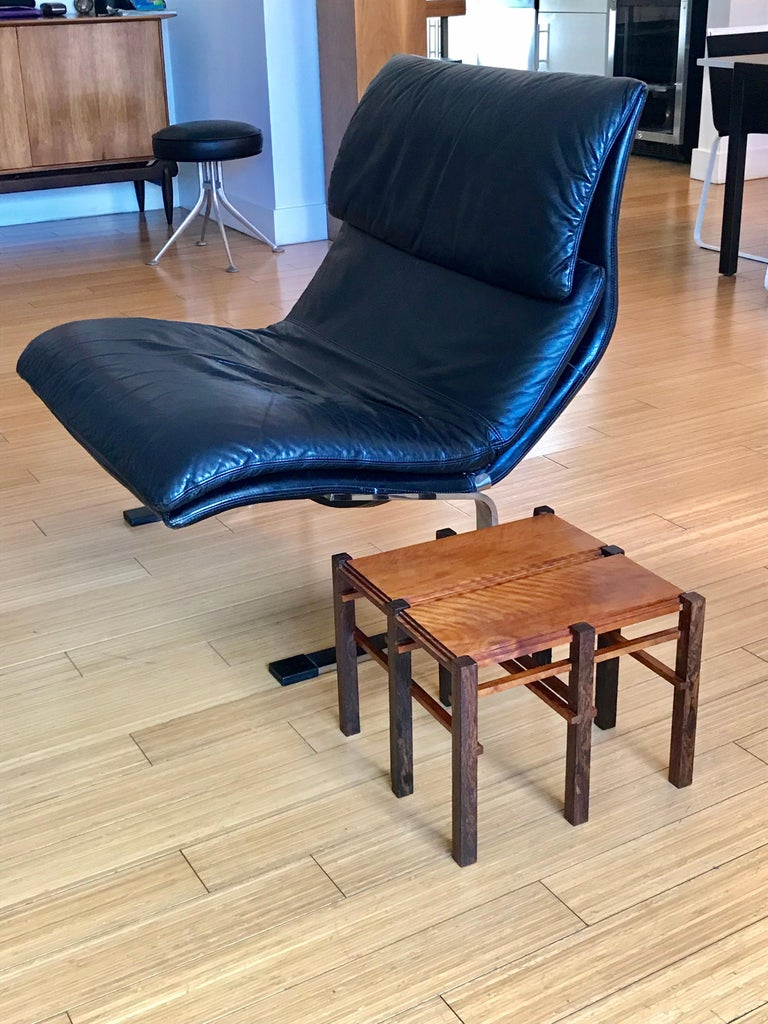Saporiti Italia Leather Lounge Chair, 1970s In Good Condition For Sale In Los Angeles, CA